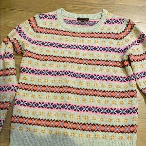 Wool Jcrew fairisle sweater